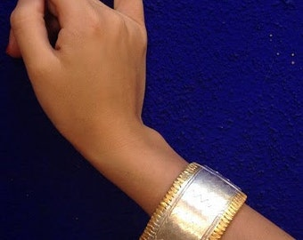 Silver & Gold Paunchi Arm Bracelet