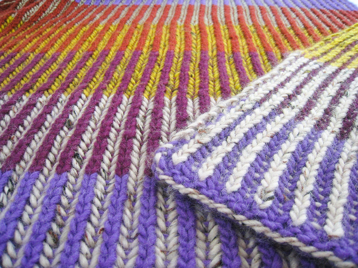 Knitting Terminology Yo : Knitting pattern baby blanket with english rib in two