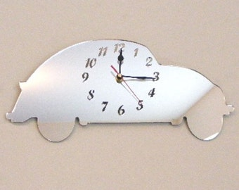 Beetle Car Clock Mirror - 2 Sizes Available