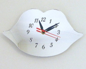 Lips Clock Mirror - 2 Sizes Available