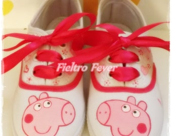 Peppa Pig Shoes, Maryjane shoes, Sneakers, slippers, shoes pesonalized.