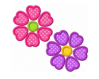 Flowers 02 Applique Machine Embroidery Design NO:0149