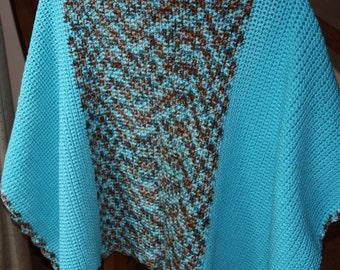 Turquoise Baby Blanket - Baby Boy Blanket - Hand Crocheted Afghan - Baby Boy Gift - Baby Boy Nursery