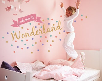Welcome to Wonderland - Quote Fabric Wall Decals