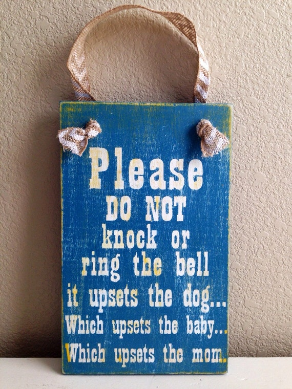 Items Similar To Kids Sleeping Front Door Sign Please Do Not Knock