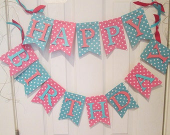 Happy Birthday banner, Birthday banner, 1st birthday banner, Birthday decorations
