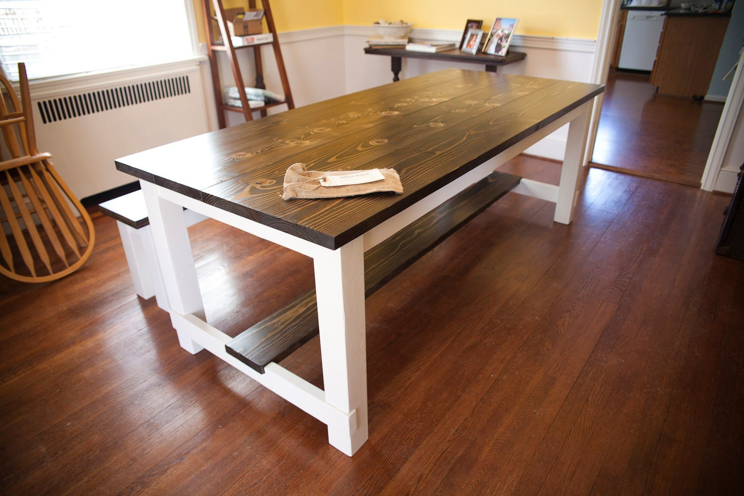 8 Farmhouse Table with Stretchers Farmhouse Dining by EmmorWorks