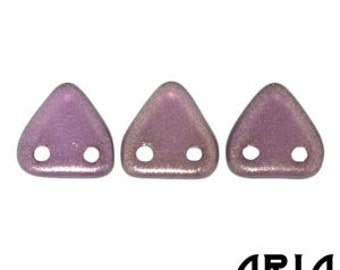 HALO REGAL: 6mm Two-Hole Czech Glass Triangle Beads (10 grams)