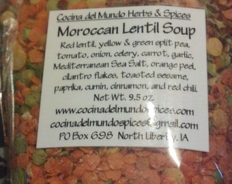 3 packages of Moroccan Lentil Soup, Gift Package