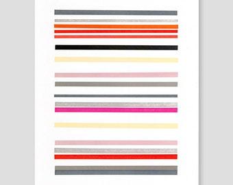 Letterpress Stripes Print (Version B)