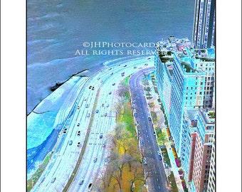East Lake Shore Drive   5x7 Greeting Card