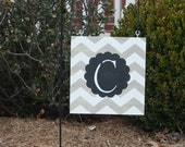 Garden Flag, personalized, weatherproof wood, 12X12. Purchase two for double doors.
