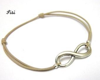 Bracelet beige infinity