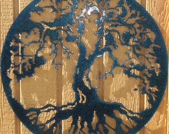 Tree of Life Metal Wall Art Home Decor Color Changing!!