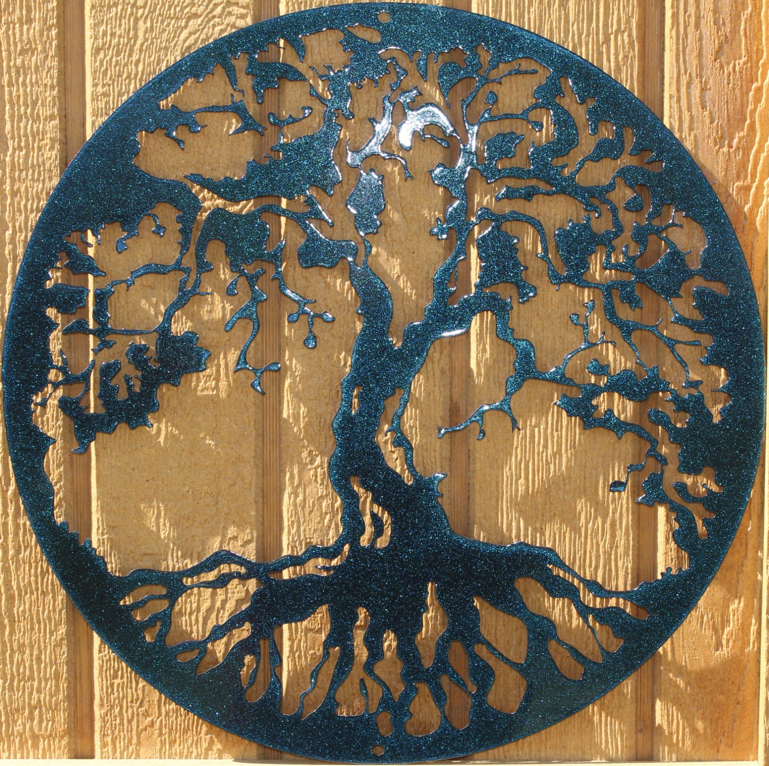 tree of life metal wall art home decor color changing. Black Bedroom Furniture Sets. Home Design Ideas