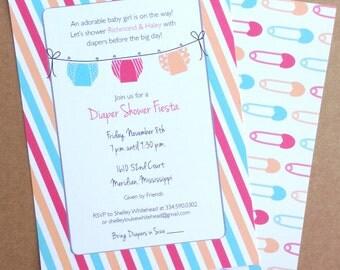 Baby Shower Invitation - Diaper Shower