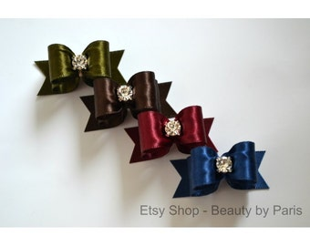 "Simple Satin 5/8"" Dog Bow"