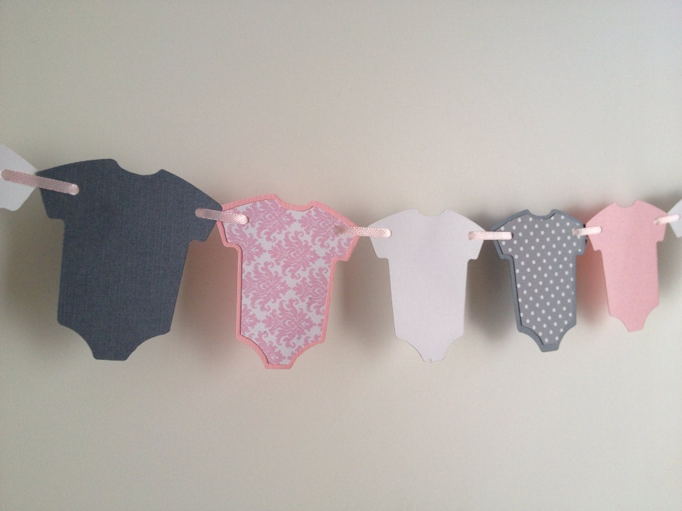 Pink baby shower decor pink baby garland shabby chic baby for Shabby chic garland lights