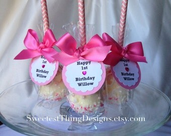 12 Chevon Marshmallow Pops / Favor Pops by The Sweetest Thing Designs & Events