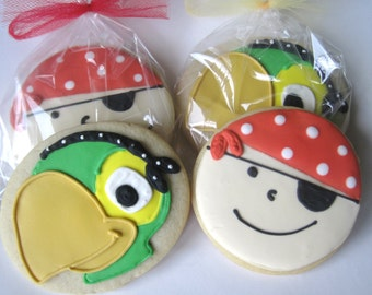 Pirate and Parrot cookies