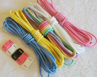 Easter Paracord Kit - 50 Feet of cord plus 5 buckles - Spring Paracord Kit