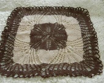 Handmade crochet doily