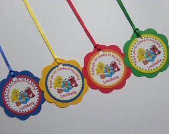 Baby Sesame Street Favor Tags