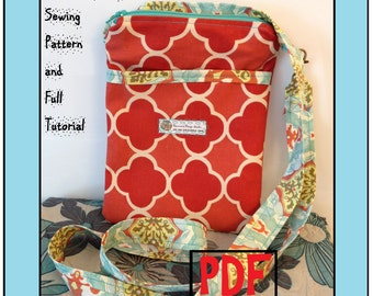 Cross-Body Bag Sewing Pattern: The Nancy Bag Cross-Body Bag Sewing Pattern and Tutorial Instant Download PDF