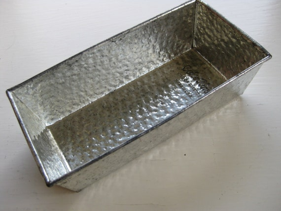 Small Bake King Loaf Pan Textured Folded Metal Vintage And