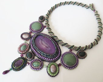 BOREALE - Beadweaving Necklace
