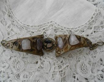 Vintage bracelet with semi precious stones