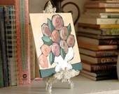 Peach Sorbet Roses - Original Acrylic Painting - Peach, Pink, Salmon, Green - Cottage Chic Art by Lana Manis