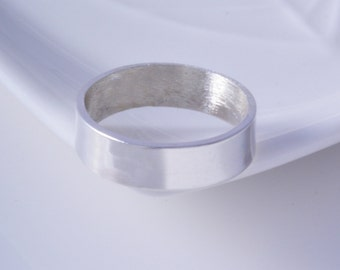 Sterling silver 6mm plain band ring handmade choose your size custom made to order 925