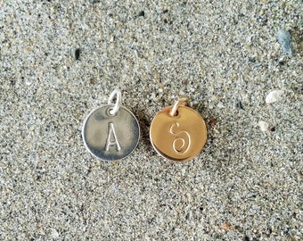 Extra Monogram Disk, Gold fill or Sterling Silver