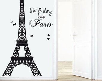 Eiffel Tower Decal - Paris Decals- Livingroom wall decal - Decals Paris - Wall Stickers