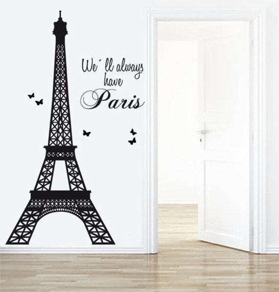 eiffel tower decal paris decals livingroom wall decal. Black Bedroom Furniture Sets. Home Design Ideas