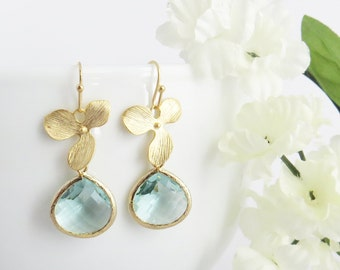 Aquamarine Earrings, Aquamarine Birthstone, Aquamarine Jewelry, March Birthstone, Christmas Gift, Gift for Mom, Bridesmaid Earrings, Mom