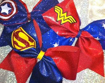 Super Hero Inspired Cheer Bow