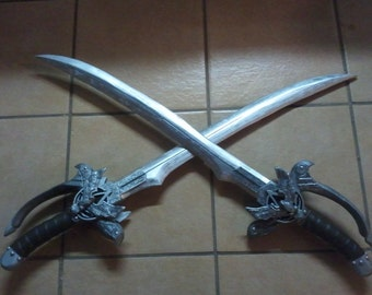 "Set of two - 36"" Wood - Assassin Pirate Swords"