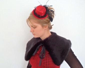 luxury black faux fur collar, stole, shawl, wrap, shrug.