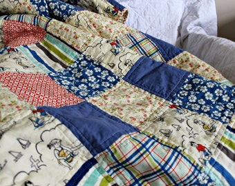 Made to Order Patchwork Quilt - Design Your Own Quilt -   Throw or Lap Size Patchwork Quilt