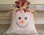 Scarecrow, Burlap Scarecrow Sack, Ready to Ship, Primitive Decor, Fall Decor, Halloween Decor, Seasonal Items, Indoor/outdoor use