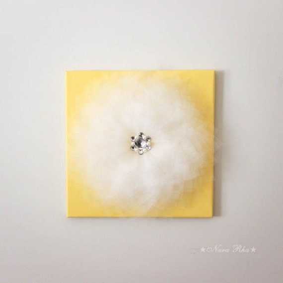 Pale Yellow Wall Decor : Items similar to nursery decor wall flower yellow