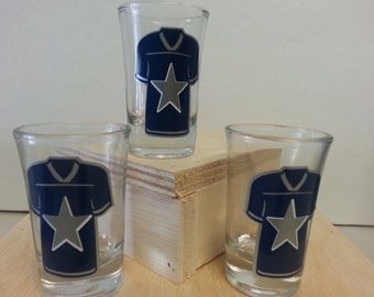Cowboys Shot Glasses, Dallas Shot Glasses,