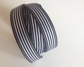 Black Stripe Ribbon 5/8 inch x 15 ft