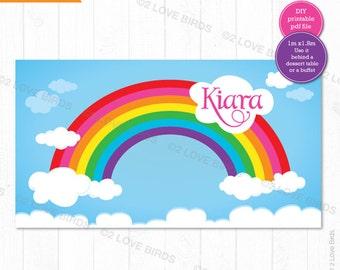 Rainbow Printable Backdrop