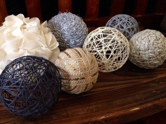 Items similar to rainy sky decorative balls yarn