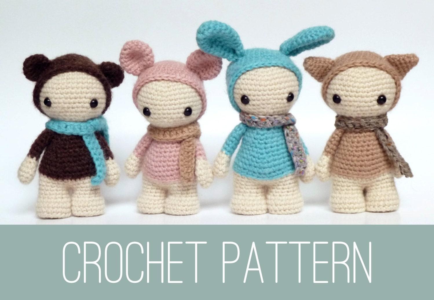 Amigurumi doll crochet PATTERN crochet dolls pattern