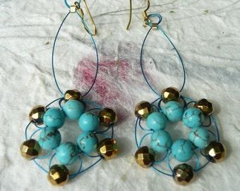 Mandala Woven Earrings