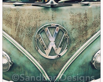 4 x 4 photo card-Patina VW bus